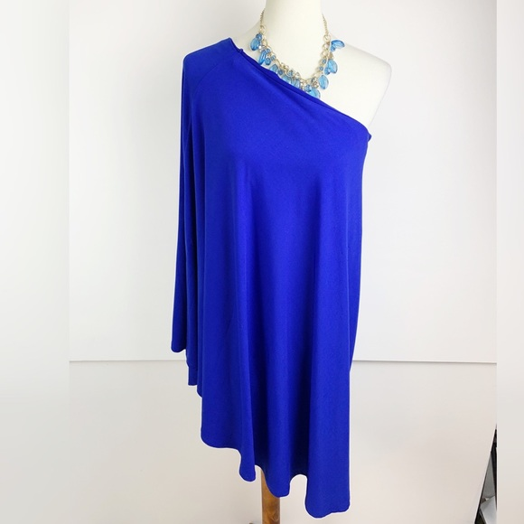 VENUS Dresses & Skirts - Venus | Women's Blue One Shoulder Dress | B1610